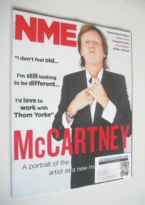 <!--2013-10-05-->NME magazine - Paul McCartney cover (5 October 2013)