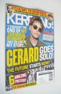 <!--2013-10-26-->Kerrang magazine - Gerard Way cover (26 October 2013 - Iss