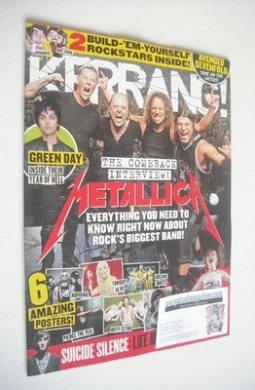 <!--2013-10-12-->Kerrang magazine - Metallica cover (12 October 2013 - Issu