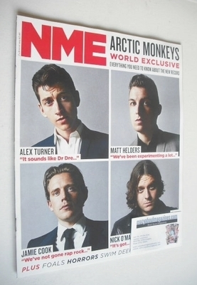 <!--2013-08-03-->NME magazine - Arctic Monkeys cover (3 August 2013)