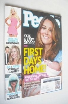 People magazine - Kate Middleton and baby George cover (12 August 2013)
