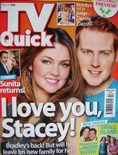TV Quick magazine - Lacey Turner and Charlie Clements cover (5-11 December
