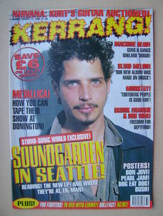 <!--1995-08-12-->Kerrang magazine - Chris Cornell cover (12 August 1995 - I