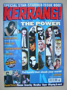 <!--2000-05-06-->Kerrang magazine - 6 May 2000 (Issue 800)