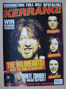 <!--1995-07-29-->Kerrang magazine - 29 July 1995 (Issue 556)