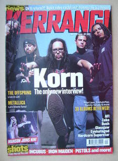<!--2000-05-20-->Kerrang magazine - Korn cover (20 May 2000 - Issue 802)