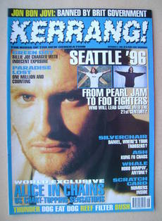 <!--1995-12-02-->Kerrang magazine - 2 December 1995 (Issue 574)