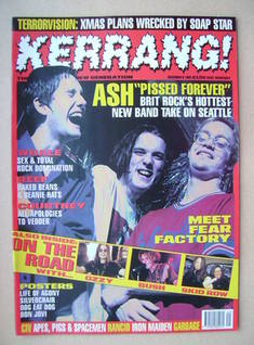 <!--1995-12-09-->Kerrang magazine - Ash cover (9 December 1995 - Issue 575)