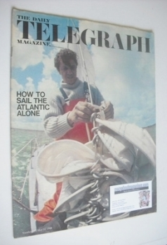 The Daily Telegraph magazine - How To Sail The Atlantic Alone cover (31 May 1968)
