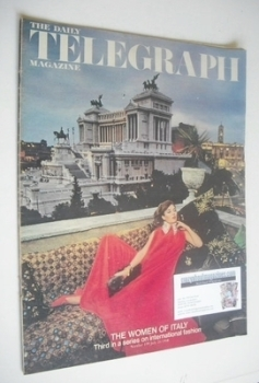 The Daily Telegraph magazine - The Women Of Italy cover (26 July 1968)