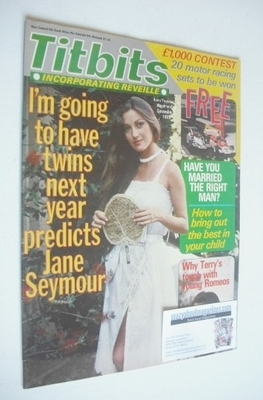 <!--1979-12-08-->Titbits magazine - Jane Seymour cover (8 December 1979)