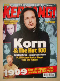 <!--2000-01-08-->Kerrang magazine - Jonathan Davis cover (8 January 2000 -