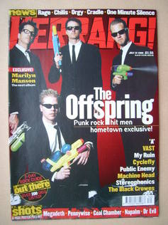 <!--1999-07-31-->Kerrang magazine - The Offspring cover (31 July 1999 - Iss
