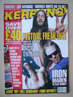 <!--1995-06-24-->Kerrang magazine - 24 June 1995 (Issue 551)