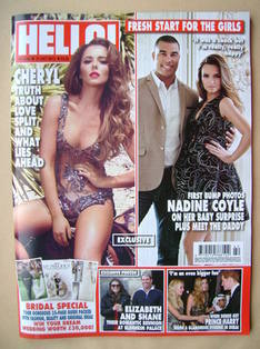 <!--2013-10-21-->Hello! magazine - Cheryl Cole cover (21 October 2013 - Iss