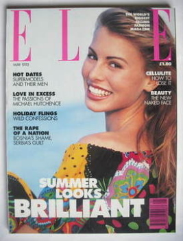 British Elle magazine - May 1993 - Niki Taylor cover