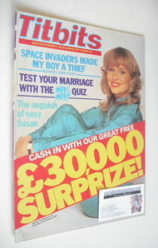 Titbits magazine - Susan Penhaligon cover (6 February 1982)