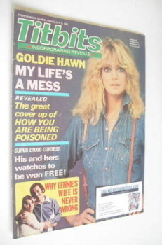 Titbits magazine - Goldie Hawn cover (18 July 1981)