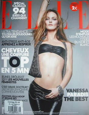 <!--2009-11-->French Elle magazine - November 2009 - Vanessa Paradis cover