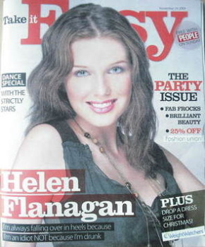 Take It Easy magazine - Helen Flanagan cover (29 November 2009)