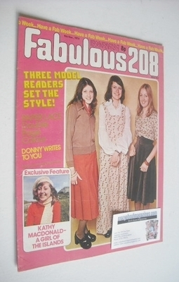 <!--1974-11-09-->Fabulous 208 magazine (9 November 1974)