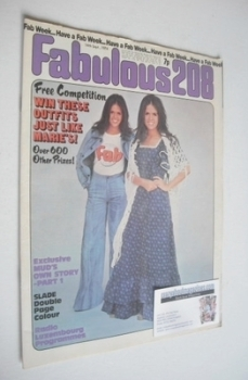 Fabulous 208 magazine (14 September 1974 - Marie Osmond cover)