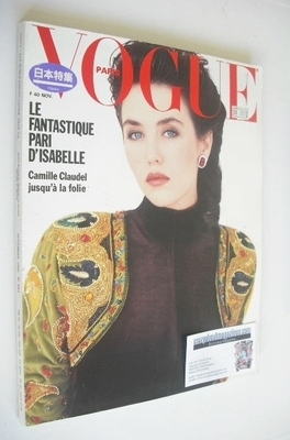 <!--1988-11-->French Paris Vogue magazine - November 1988 - Isabelle Adjani