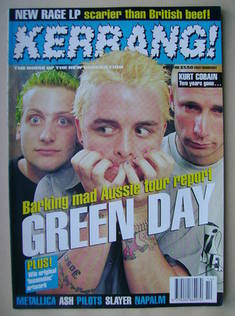 <!--1996-04-06-->Kerrang magazine - Green Day cover (6 April 1996 - Issue 5