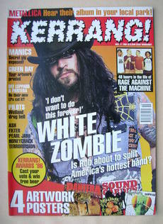 <!--1996-05-11-->Kerrang magazine - White Zombie cover (11 May 1996 - Issue