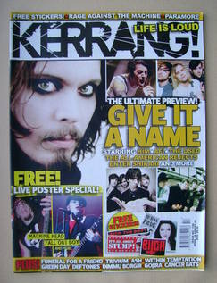 <!--2007-04-28-->Kerrang magazine - 28 April 2007 - Give It A Name cover (I