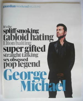 The Guardian Weekend magazine - 5 December 2009 - George Michael cover