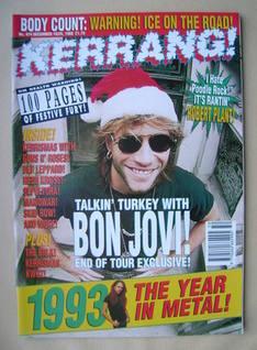 <!--1993-12-18-->Kerrang magazine - Jon Bon Jovi cover (18/25 December 1993