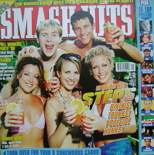 <!--1998-10-07-->Smash Hits magazine - Steps cover (7 October 1998)