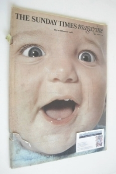 The Sunday Times magazine - How A Child Sees The World cover (6 October 1968)