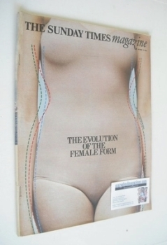 The Sunday Times magazine - The Evolution Of The Female Form cover (13 October 1968)