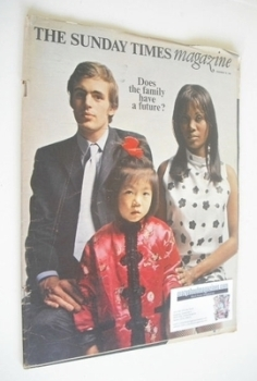 The Sunday Times magazine - Does The Family Have A Future cover (10 November 1968)