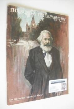The Sunday Times magazine - Karl Marx cover (24 November 1968)