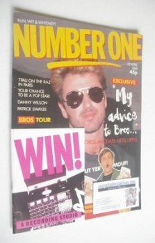 NUMBER ONE Magazine - George Michael cover (30 April 1988)