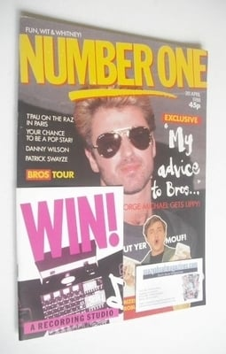 <!--1988-04-30-->NUMBER ONE Magazine - George Michael cover (30 April 1988)