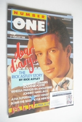 <!--1988-02-27-->NUMBER ONE Magazine - Rick Astley cover (27 February 1988)