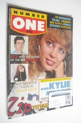 <!--1988-02-20-->NUMBER ONE Magazine - Kylie Minogue cover (20 February 198