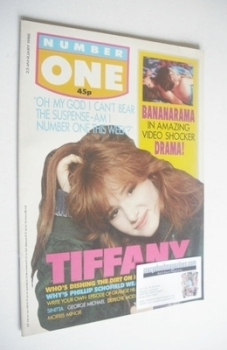 NUMBER ONE Magazine - Tiffany cover (23 January 1988)