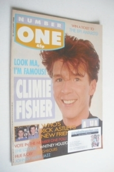 NUMBER ONE Magazine - Simon Climie cover (16 January 1988)