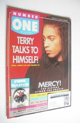 <!--1987-10-10-->NUMBER ONE Magazine - Terence Trent D'Arby cover (10 Octob
