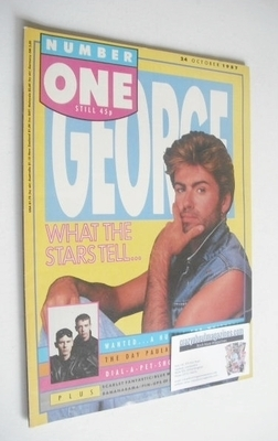 <!--1987-10-24-->NUMBER ONE Magazine - George Michael cover (24 October 198