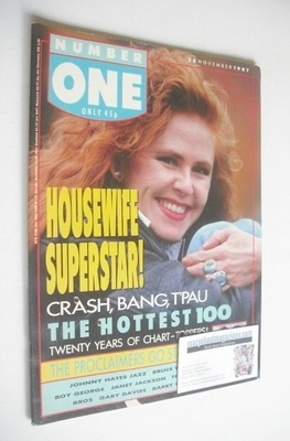 <!--1987-11-28-->NUMBER ONE Magazine - Carol Decker cover (28 November 1987