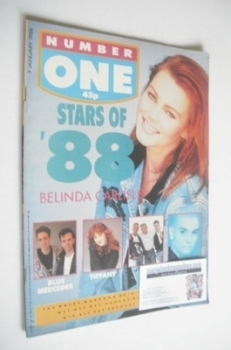 NUMBER ONE Magazine - Belinda Carlisle cover (9 January 1988)