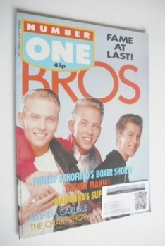 NUMBER ONE Magazine - Bros cover (30 January 1988)