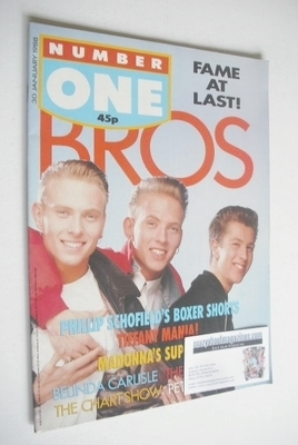 <!--1988-01-30-->NUMBER ONE Magazine - Bros cover (30 January 1988)