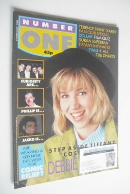 <!--1988-02-06-->NUMBER ONE Magazine - Debbie Gibson cover (6 February 1988